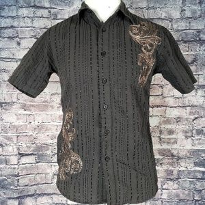 Swanky Wear Embroidered Camp Shirt, Small